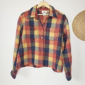 Vintage Nevada Wool Blend Cropped Shacket